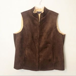 Lands' End Jackets & Coats - Lands' End Faux Suede Vest